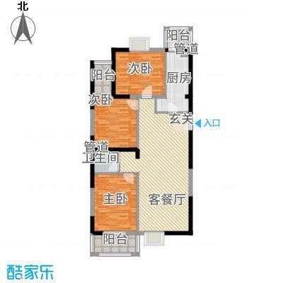 太原奥林匹克花园10#楼四户型3室2厅1卫1厨