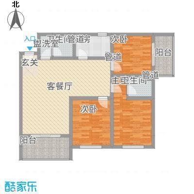 大中广场1户型3室