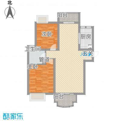 世纪中央城户型2室