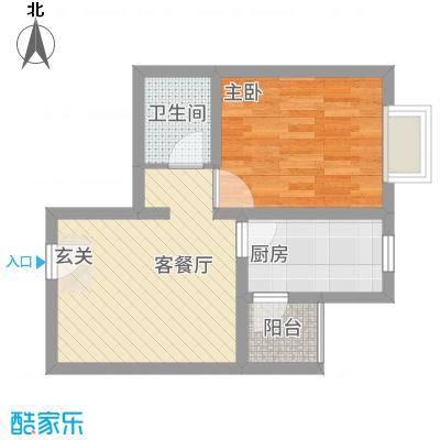 中悦水晶城2-D户型1室1厅1卫1厨