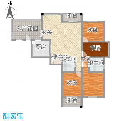 铭筑高第178.00㎡5-10层面图户型3室2厅2卫1厨
