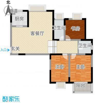 翡翠湾花园125.00㎡C2户型5室2厅2卫1厨