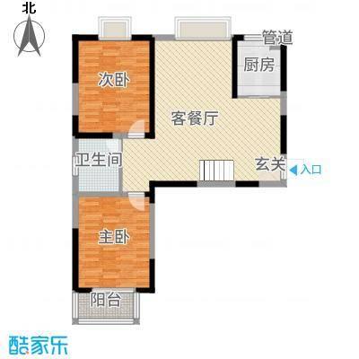 翡翠湾花园14.00㎡B1户型3室2厅2卫1厨