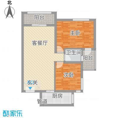 淮安万达广场3.00㎡7#楼D户型2室2厅1卫