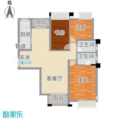 淮安万达广场141.00㎡C4户型3室2厅2卫1厨