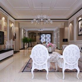 欧式欧式风格客厅三居案例展示
