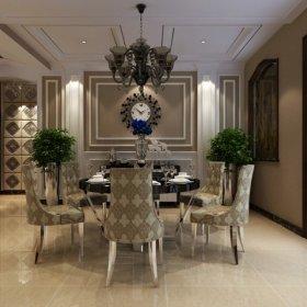 欧式欧式风格餐厅三居案例展示
