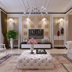 欧式欧式风格客厅三居背景墙电视背景墙装修案例
