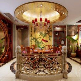 中式中式风格餐厅四居设计案例