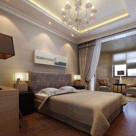 现代现代风格卧室四居设计方案