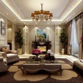 欧式欧式风格客厅四居效果图