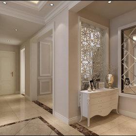 欧式简约玄关玄关柜设计案例