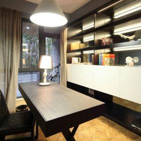 现代书房别墅窗帘设计案例