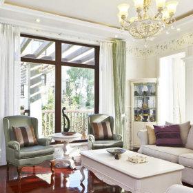 欧式客厅别墅窗帘设计案例展示