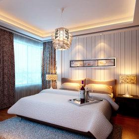 卧室吊顶窗帘装修案例