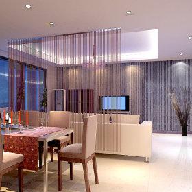 现代简约过道三室两厅两卫设计图