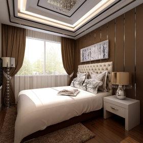 现代现代风格卧室单身公寓装修图