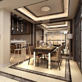现代现代风格餐厅单身公寓吊顶案例展示