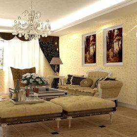 欧式欧式风格客厅背景墙沙发客厅沙发装修效果展示