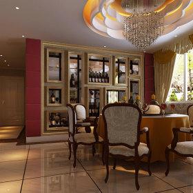 欧式餐厅吊顶设计案例展示