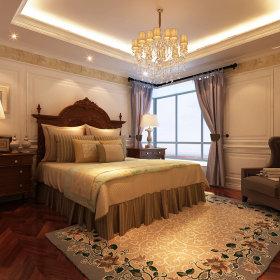 欧式卧室吊顶窗帘设计图