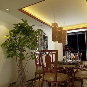 中式中式风格餐厅三居案例展示