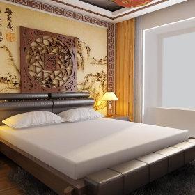 中式中式风格卧室三居设计方案