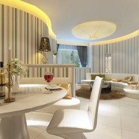 现代餐厅一居室设计案例展示
