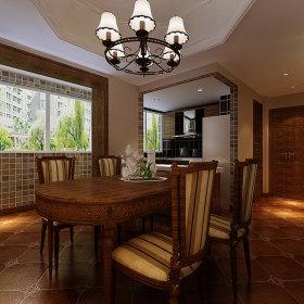 美式餐厅别墅吊顶设计方案