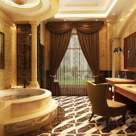欧式别墅浴室效果图