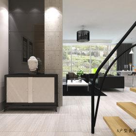现代玄关跃层玄关柜设计方案