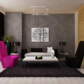 现代客厅跃层设计案例