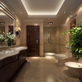 欧式卫生间别墅装修案例