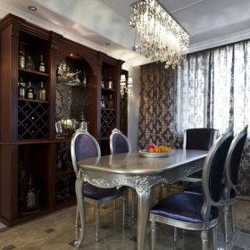 欧式餐厅酒柜案例展示