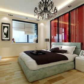 现代卧室一居室吊顶设计方案