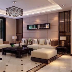 现代简约客厅吊顶背景墙沙发单人沙发设计方案