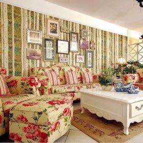 田园客厅沙发单人沙发设计案例