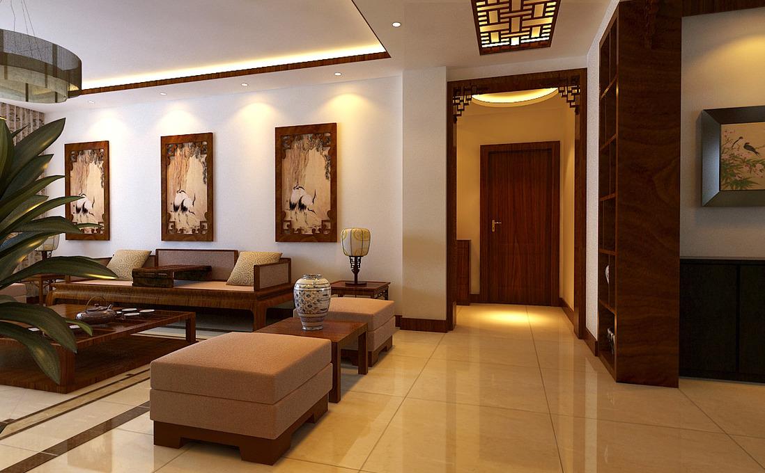 中式客厅过道茶几效果图_酷家乐装修效果图3fo4k6n2es