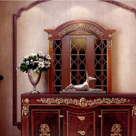 美式古典美式风格过道边柜设计案例展示