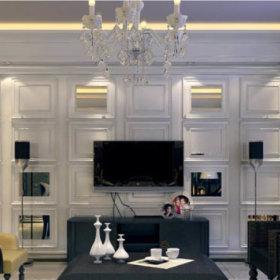 新古典古典新古典风格古典风格电视墙案例展示