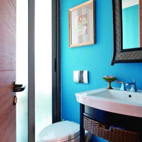 美式混搭卫生间复式楼卫浴图片