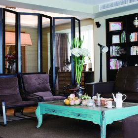美式混搭客厅复式楼茶几设计图