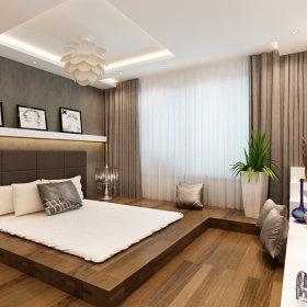 简约港式风格卧室吊顶设计方案