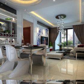 现代简约现代简约简约风格现代简约风格餐厅吊顶酒柜设计方案
