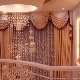 欧式别墅吊顶窗帘设计案例展示