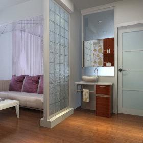 现代一居室隔断图片