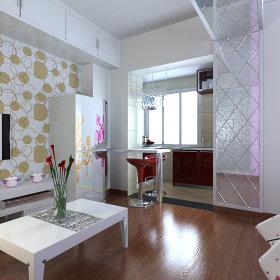 现代吧台一居室装修效果展示