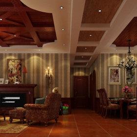 美式乡村风格客厅装修图