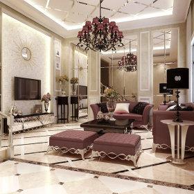 欧式简欧法式浪漫客厅设计案例展示