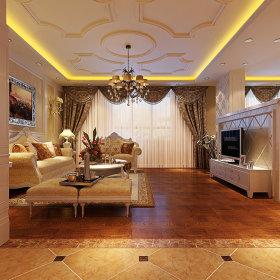 欧式客厅沙发电视柜电视背景墙设计方案
